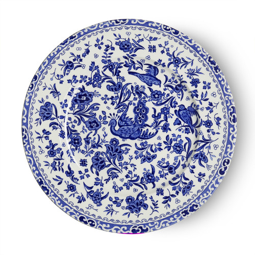 Burleigh Blue Regal Peacock Plate Medium