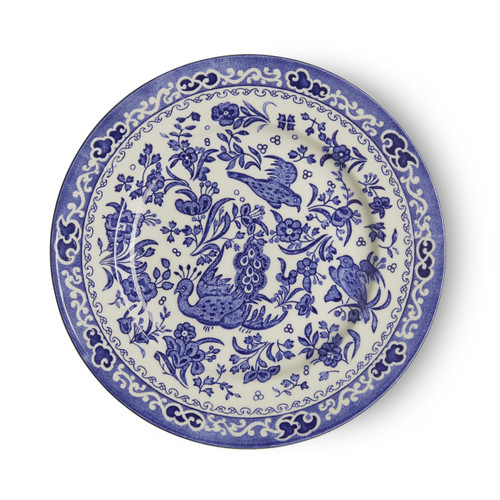 Burleigh Blue Regal Peacock Plate Small