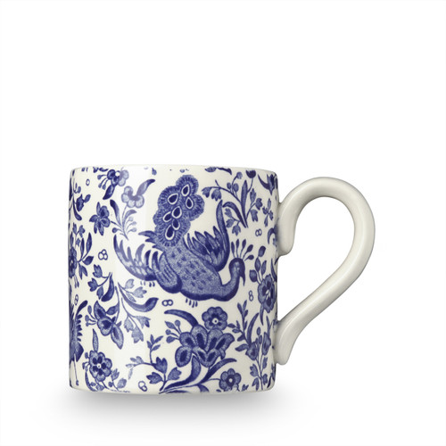 Burleigh Blue Regal Peacock Half Pint Mug