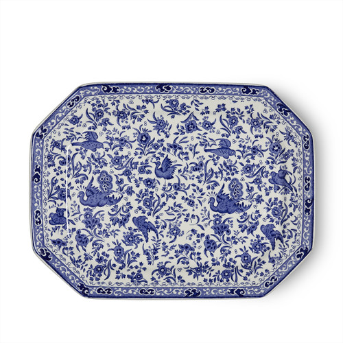Burleigh Blue Regal Peacock Rectangular Dish Large