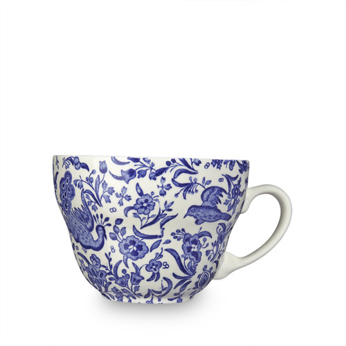 Burleigh Blue Regal Peacock Breakfast Cup