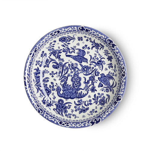 Burleigh Blue Regal Peacock Breakfast Saucer