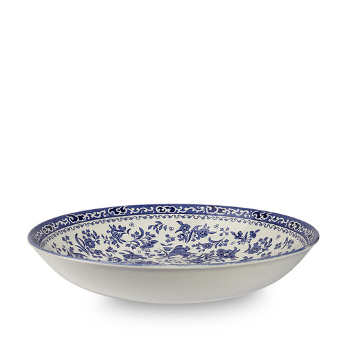 Burleigh Blue Regal Peacock Pasta Bowl