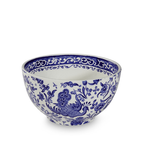 Burleigh Blue Regal Peacock Sugar Bowl Large
