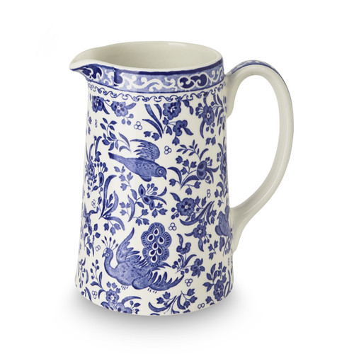 Burleigh Blue Regal Peacock Tankard Jug Medium