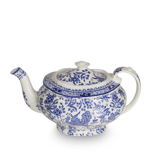 Burleigh Blue Regal Peacock Teapot Medium