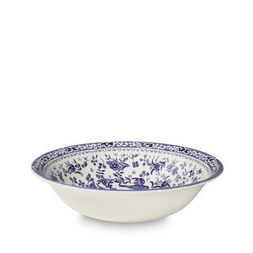 Burleigh Blue Regal Peacock Pudding/Soup Bowl