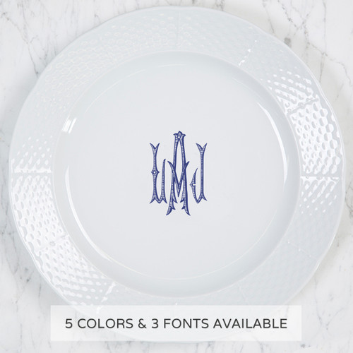 CD - Copy of Weave Charger Plate with Monogram