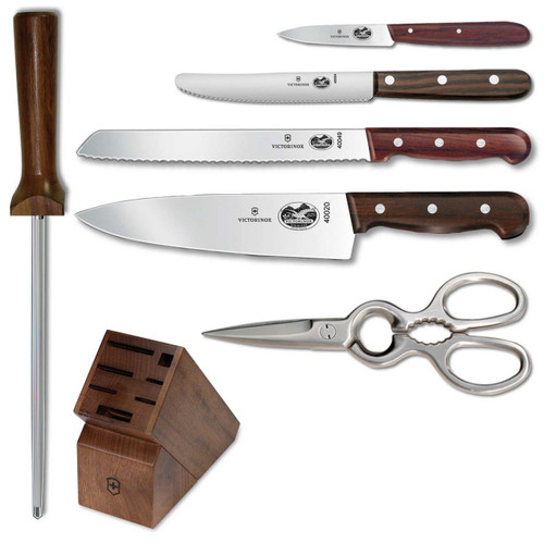Victorinox 7pc Block Set | Rosewood Handle