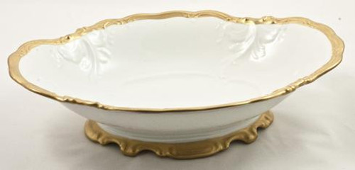Anna's Golden Patina Footed Serving Bowl