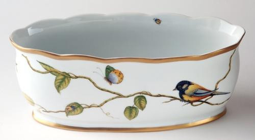 Masters Collection Brown Bird Oval Cachepot