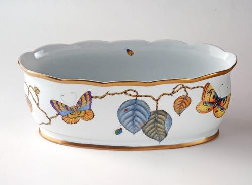 Masters Collection Butterflies Oval Cachepot