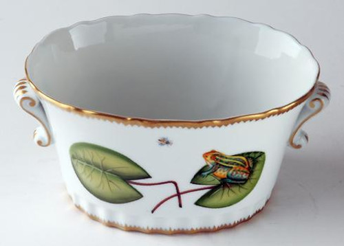 Seascape Waterlily Oval Frog Cache Pot