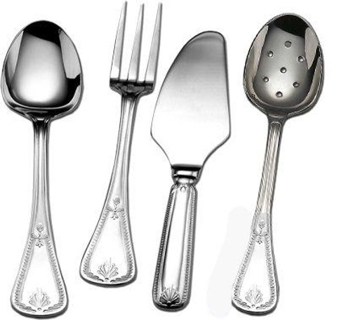 Silver Plated Flatware Consul Four Piece Hostess Set