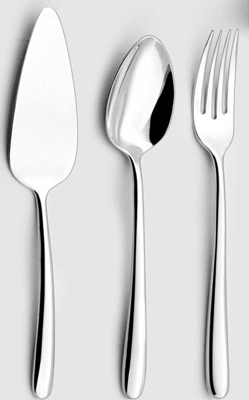 Silver Plated Flatware Fusain Four Piece Hostess Set