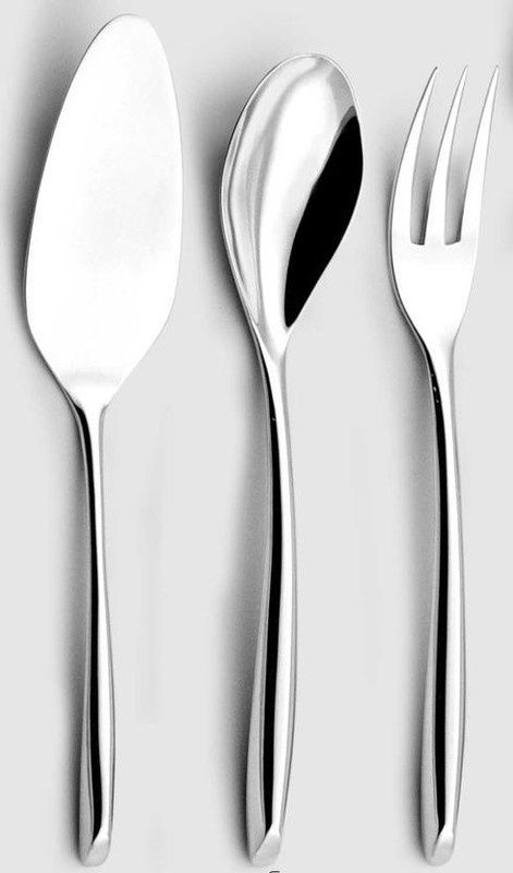 Silver Plated Flatware S-Kiss Four Piece Hostess Set