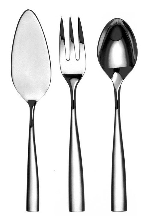 Silver Plated Flatware Silhouette Four Piece Hostess Set
