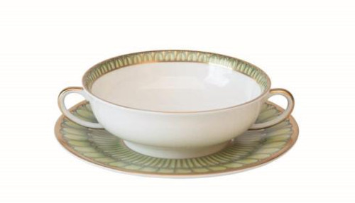 Arcades green Cream Soup Saucer