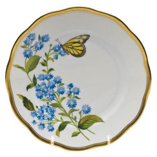 American Wildflower Blue Wood Aster Bread & Butter Plate