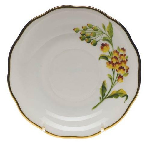 American Wildflower Butterfly Weed Tea Saucer Butterfly We