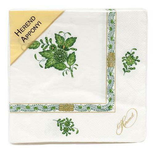 Chinese Bouquet Green Napkin - Green