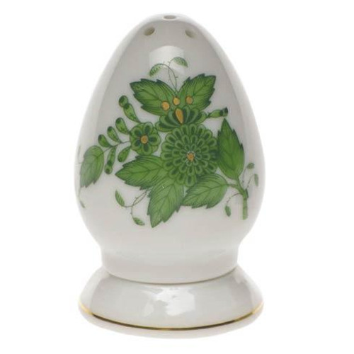 Chinese Bouquet Green Salt Shaker Multi Hole