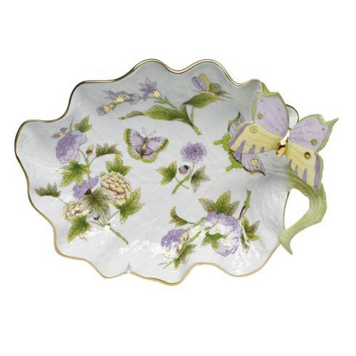 Royal Garden Large Leaf Dish w/butterfly