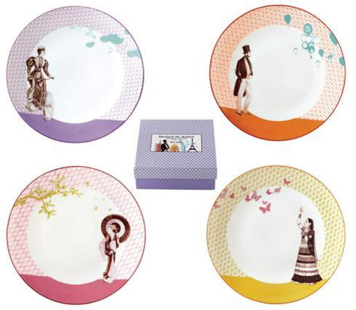 Bon Voyage Gift Box Of 4 Assorted Dessert Plates