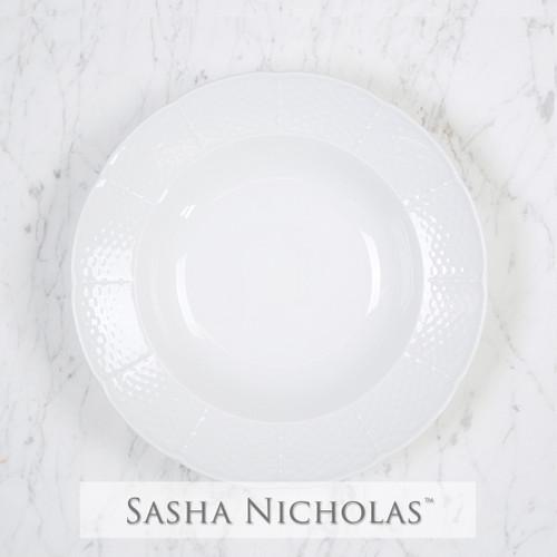 Weave Simply White Rim Soup Bowl