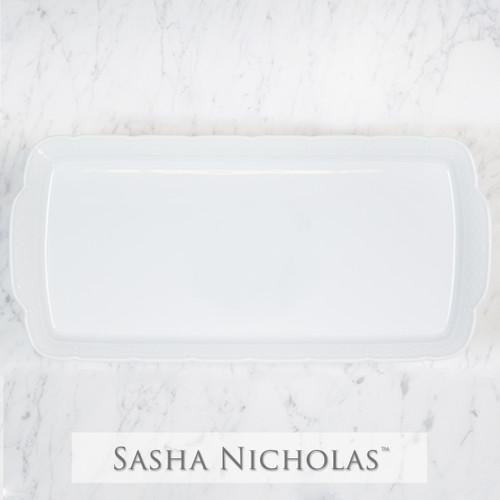 Weave Simply White Hostess Platter