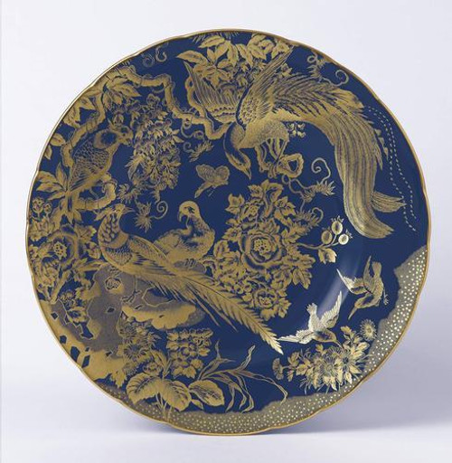 Accent Gold Aves Cobalt Plate in Gift Box