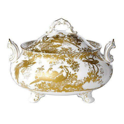 Aves Gold Soup Tureen and Cover