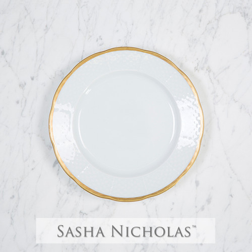 Weave Simply White 24K Gold Salad Plate
