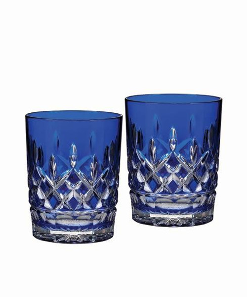 Lismore Cobalt Double Old Fashioned, Pair