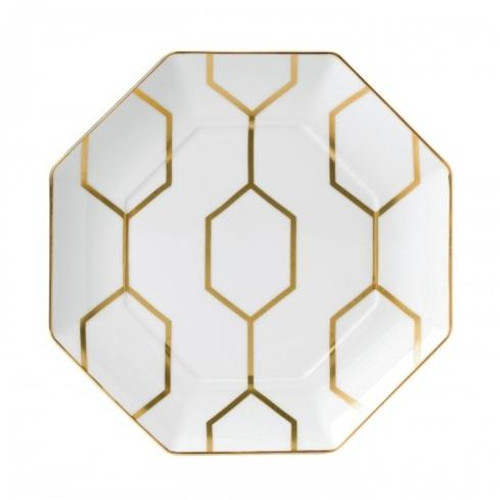 Arris Accent Plate Octagonal White 9.1""