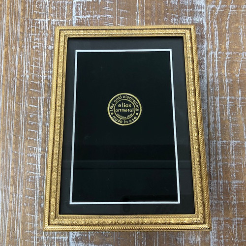Goltermann-Grote Elias Gold Beaded Floral Picture Frame