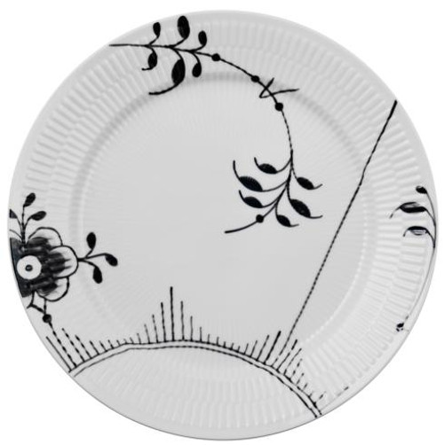 Black Fluted Mega Dinner Plate #2