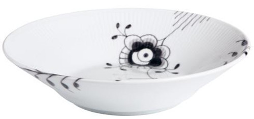 Black Fluted Mega Pasta Bowl #6