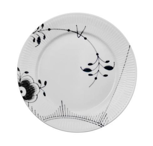 Black Fluted Mega Salad Plate #2