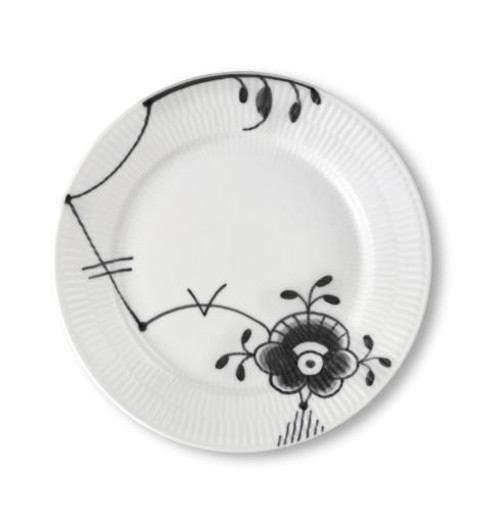 Black Fluted Mega Salad Plate #6