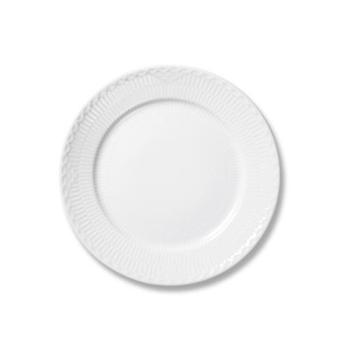 White Fluted Half Lace Bread & Butter Plate