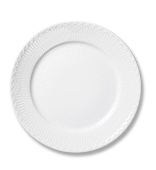 White Fluted Half Lace Salad Plate