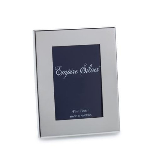 Pewter Gifts Plain Border Frame 5 x 7 [EMPLBD-F42]