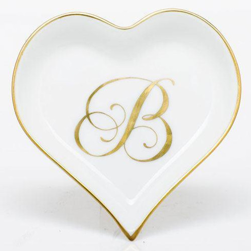 Decorative Dishes Heart Tray with Monogram - Multicolor [HERHRD-LINOR607703-0-B]