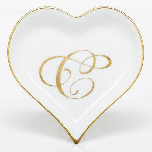 Decorative Dishes Heart Tray with Monogram - Multicolor [HERHRD-LINOR607703-0-C]