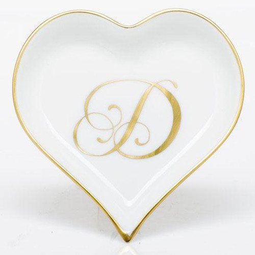 Decorative Dishes Heart Tray with Monogram - Multicolor [HERHRD-LINOR607703-0-D]