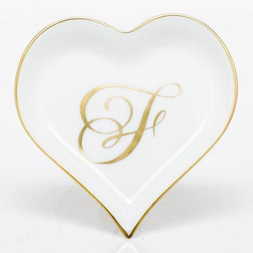Decorative Dishes Heart Tray with Monogram - Multicolor [HERHRD-LINOR607703-0-F]