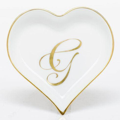 Decorative Dishes Heart Tray with Monogram - Multicolor [HERHRD-LINOR607703-0-G]