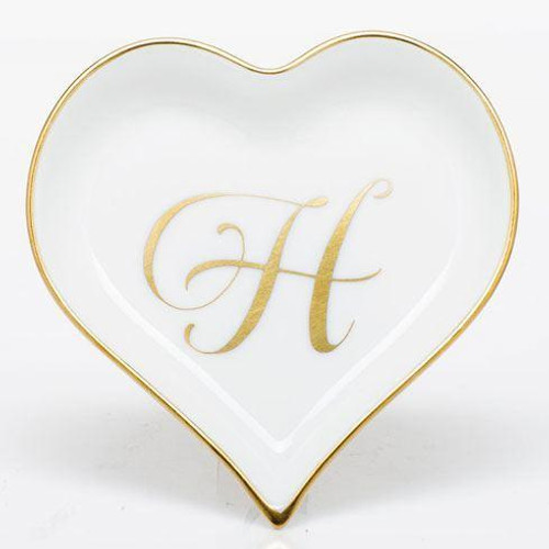 Decorative Dishes Heart Tray with Monogram - Multicolor [HERHRD-LINOR607703-0-H]