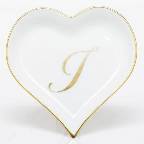 Decorative Dishes Heart Tray with Monogram - Multicolor [HERHRD-LINOR607703-0-I]